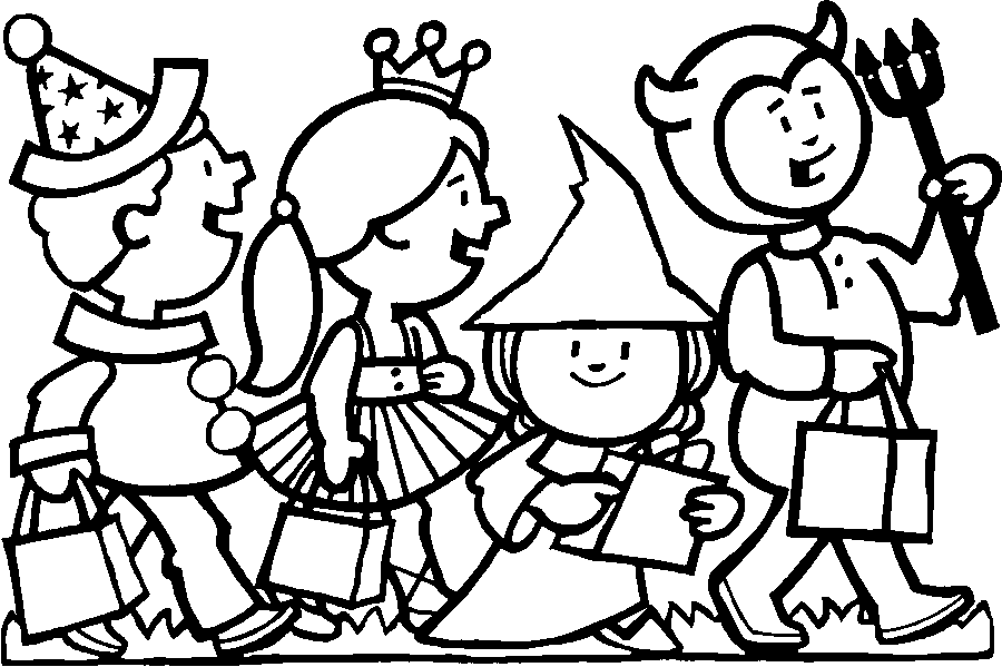 900x599 Trick Or Treat Coloring Pages