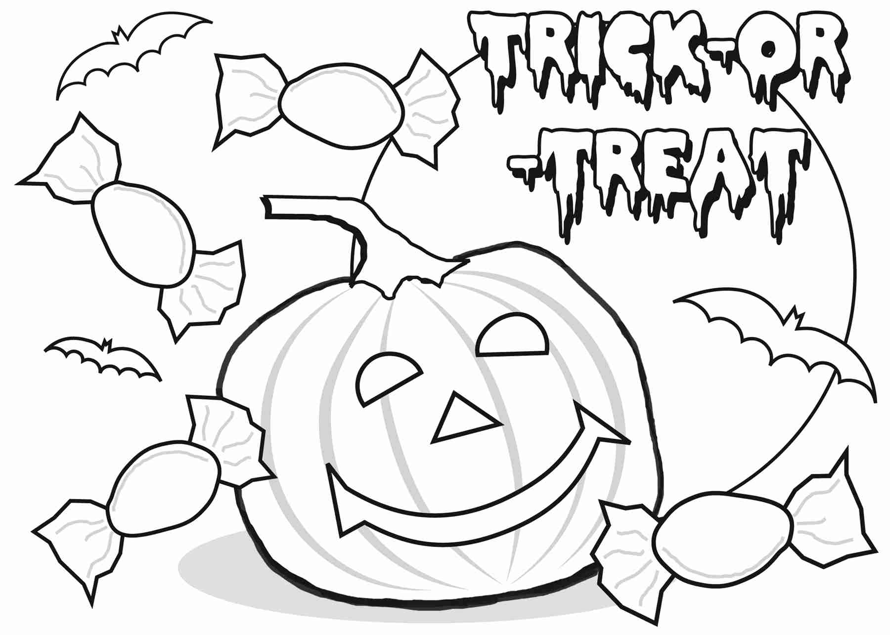 1800x1285 Trick Or Treat Coloring Pages Olegratiy