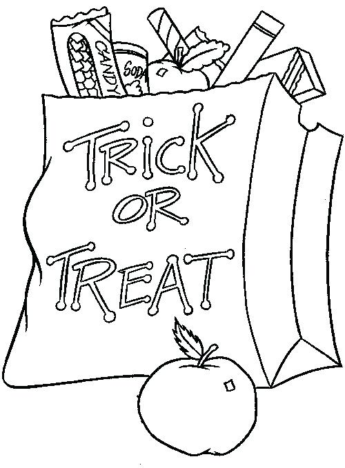 500x679 Trick Or Treat Coloring Pages Trick Or Treat Coloring Pages