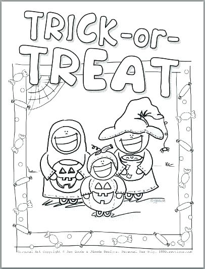 406x531 Trick Or Treat Coloring Pages Trick Or Treat Coloring Pages Trick