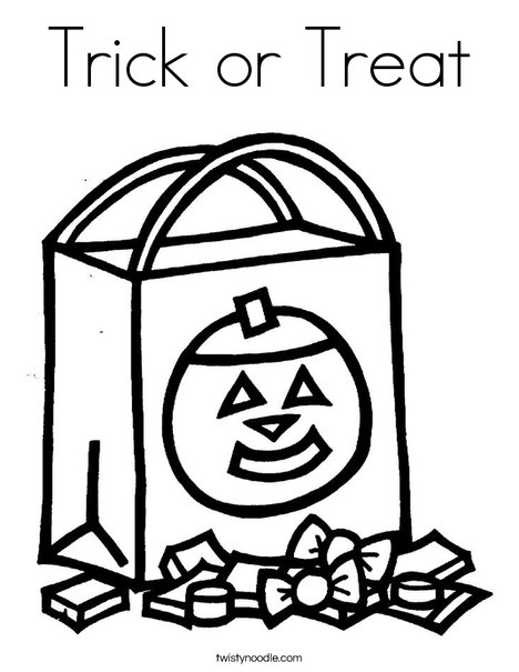 468x605 Trick Or Treat Coloring Page