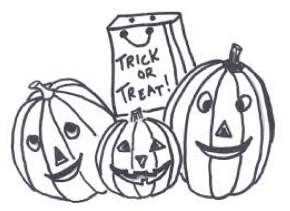 593x432 Trick Or Treat Coloring Page Coloring Book