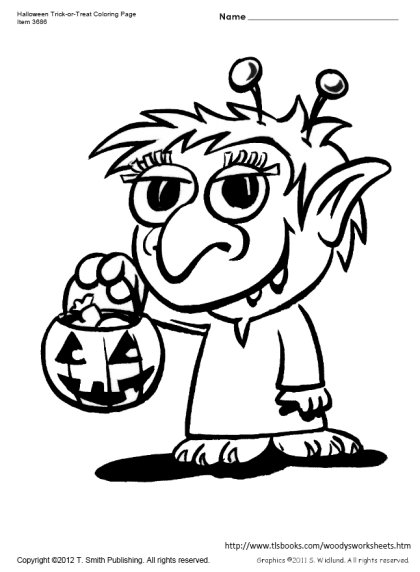 420x572 Trick Or Treat Coloring Page
