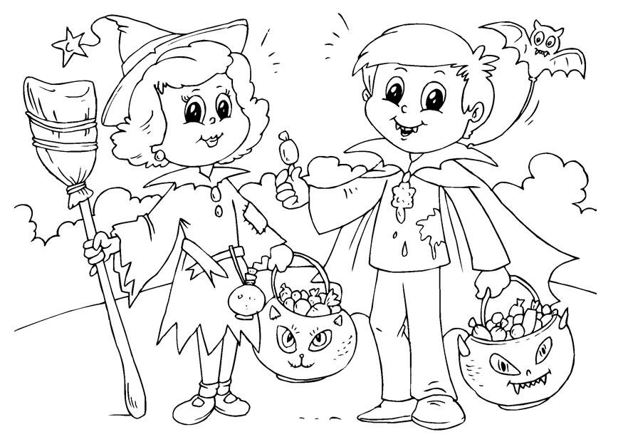 875x620 Trick Or Treat Coloring Pages Trick Or Treat Coloring Page