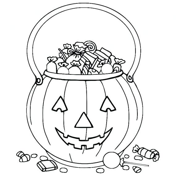 570x570 Trick Or Treat Bag Coloring Page Trick Or Treat Coloring Pages
