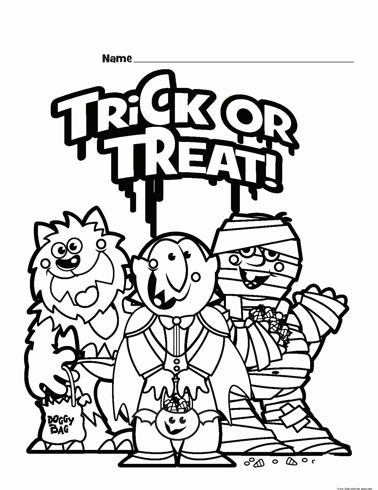 1275x1650 Halloween Coloring Book Pages Luxury Halloween Trick Or Treat