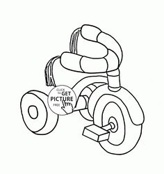 236x250 Kids Bicycle Coloring Page For Toddlers, Transportation Coloring