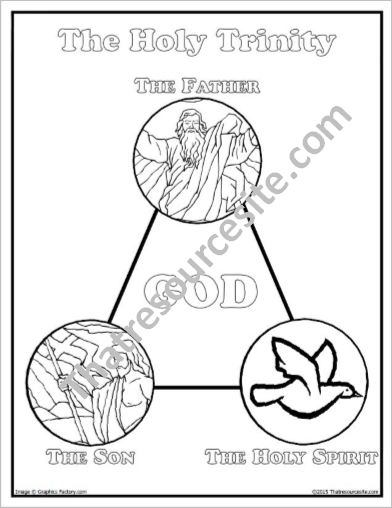 392x508 Holy Trinity Coloring Pages Holy Trinity Coloring Sheet That