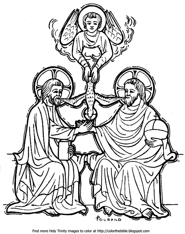 633x801 The Divine Trinity Coloring Page Color The Bible
