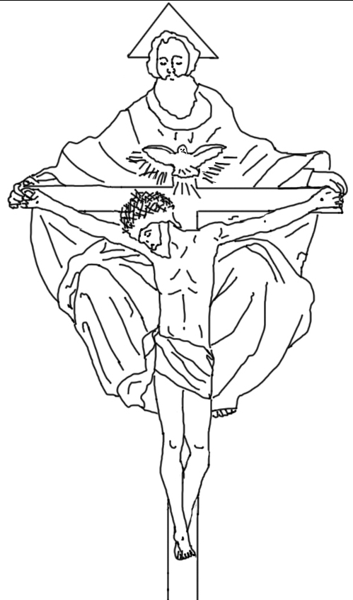 499x847 Free Coloring Page The Blessed Trinity