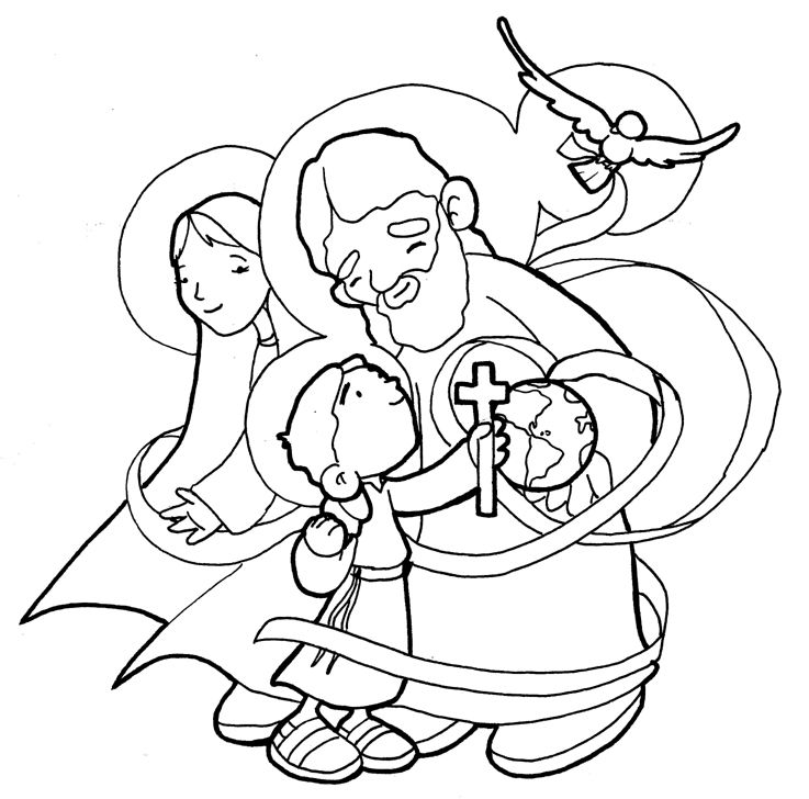 737x728 Holy Family Trinity Coloring Page Ccd Holy
