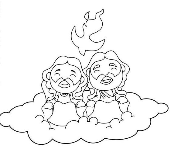 573x490 Holy Trinity Coloring Pages Ccd Ideas