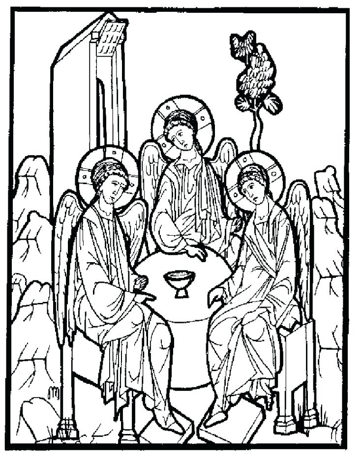 736x937 Holy Trinity Coloring Pages Best Saints Images On Coloring