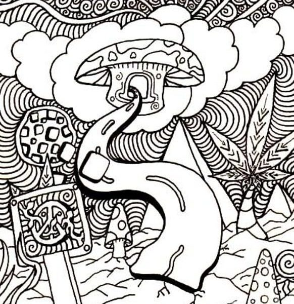 582x600 Trippy Coloring Book Pages Printable Trippy Coloring Great Trippy