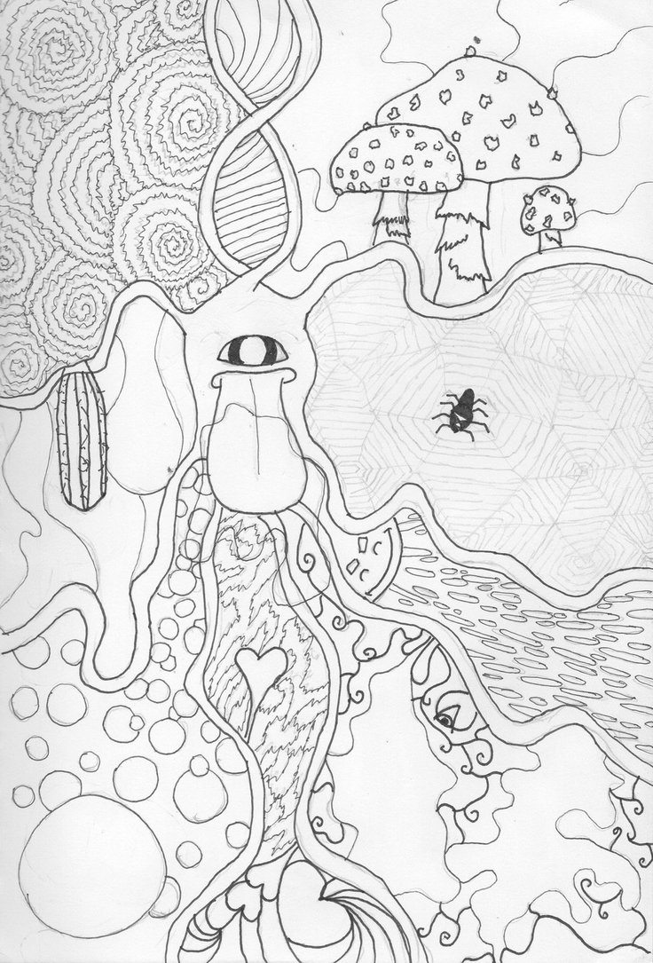 736x1085 Trippy Coloring Pages Trippy Shroom Coloring Pages Coloring