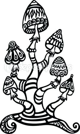 269x448 Trippy Mushroom Coloring Pages Mushroom Coloring Pages Trippy