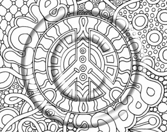 Trippy Shroom Coloring Pages
