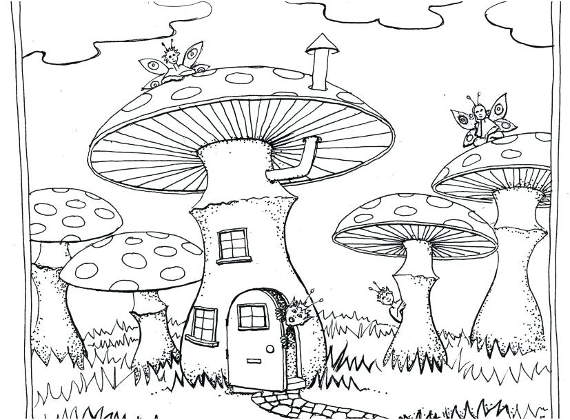 Trippy Shroom Coloring Pages at GetDrawings.com | Free for personal ...