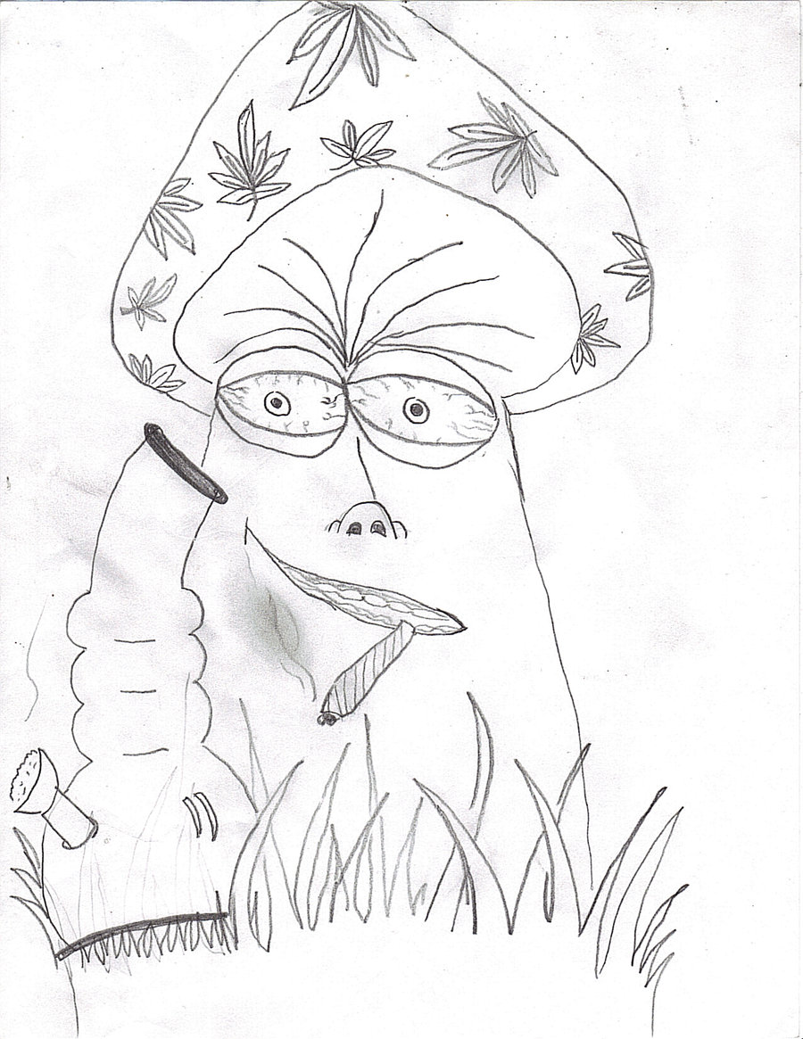Marijuana Leaf Coloring Page, HD Png Download - kindpng | 1165x900