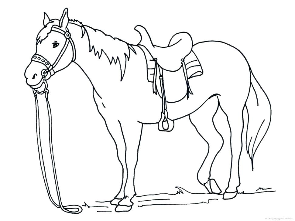 971x728 Coloring Page Of Horse Coloring Pages Of Horses To Print Horses