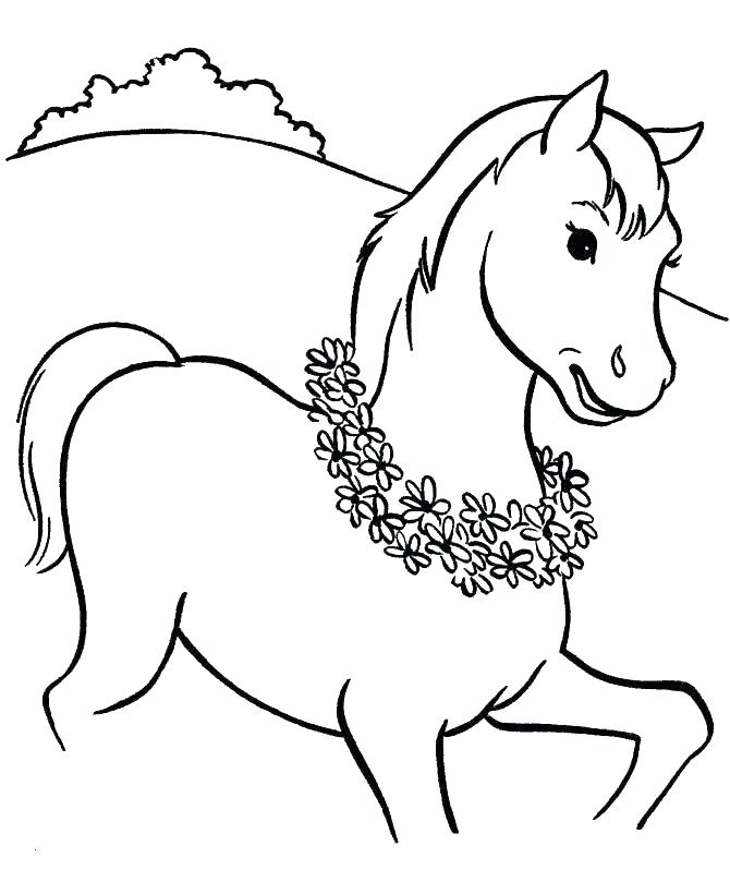 670x820 Coloring Page Of Horse Printable Coloring Pages Of Horses Horses