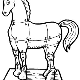 268x268 Coloring Page Trojan Horse Archives