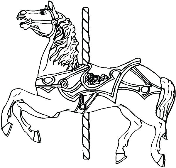 600x573 Horse Coloring Sheet Best Pages Horses Desi On Horse Drawing