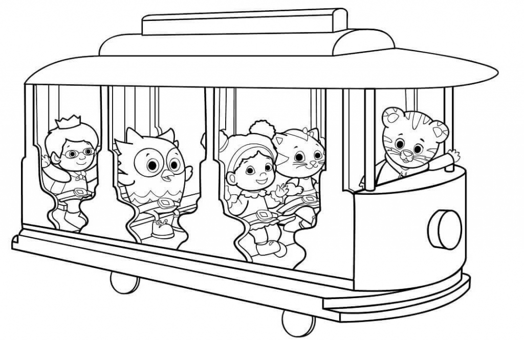 Trolley Coloring Pages