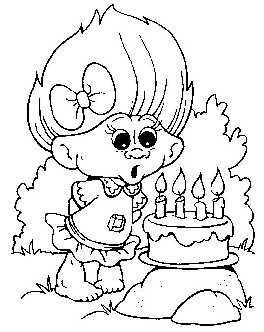 Trolls 2016 Coloring Pages