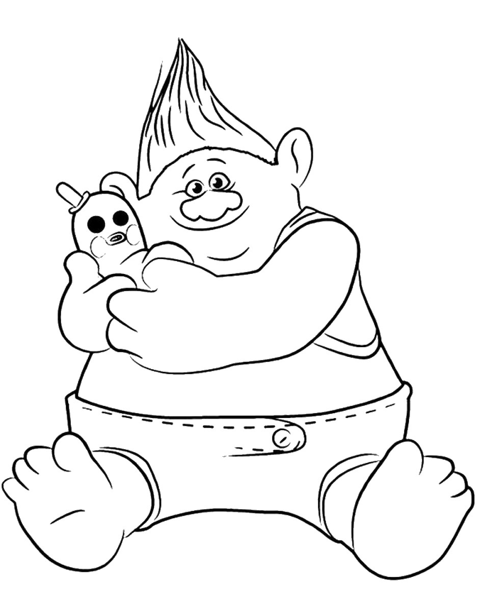952x1200 Best Of Trolls Coloring Pages Branch And Poppy Free Coloring