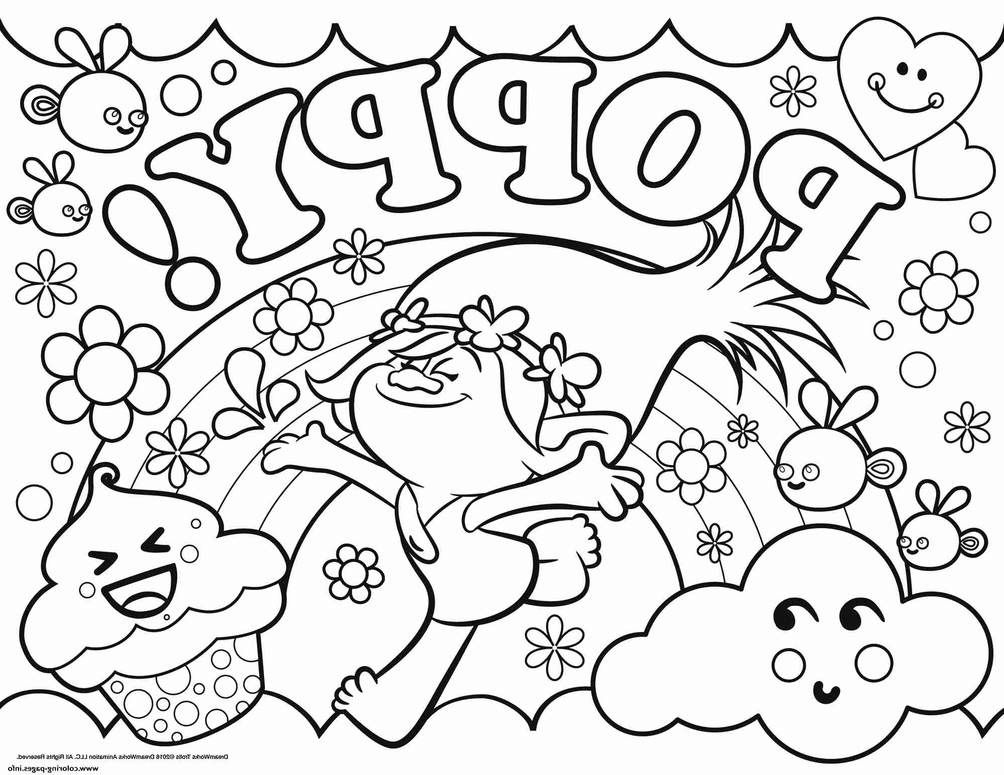 2000x1545 New Trolls Coloring Pages Poppy Troll Printable Incredible Page