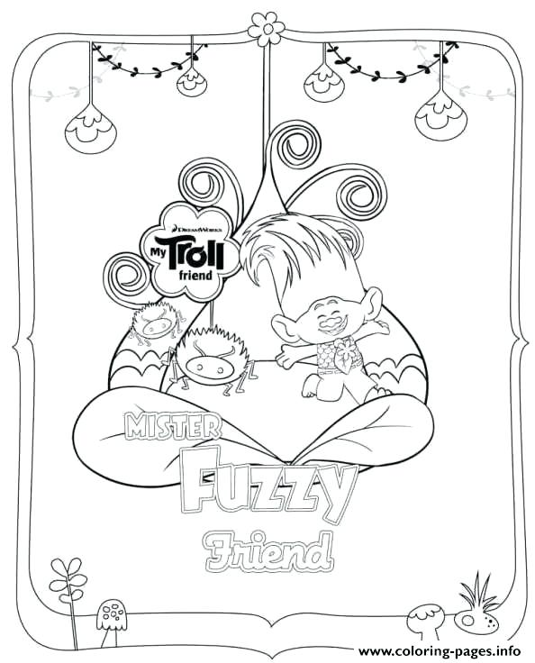 594x736 Trolls Coloring Page Free Also Trolls Fuzzy Coloring Pages
