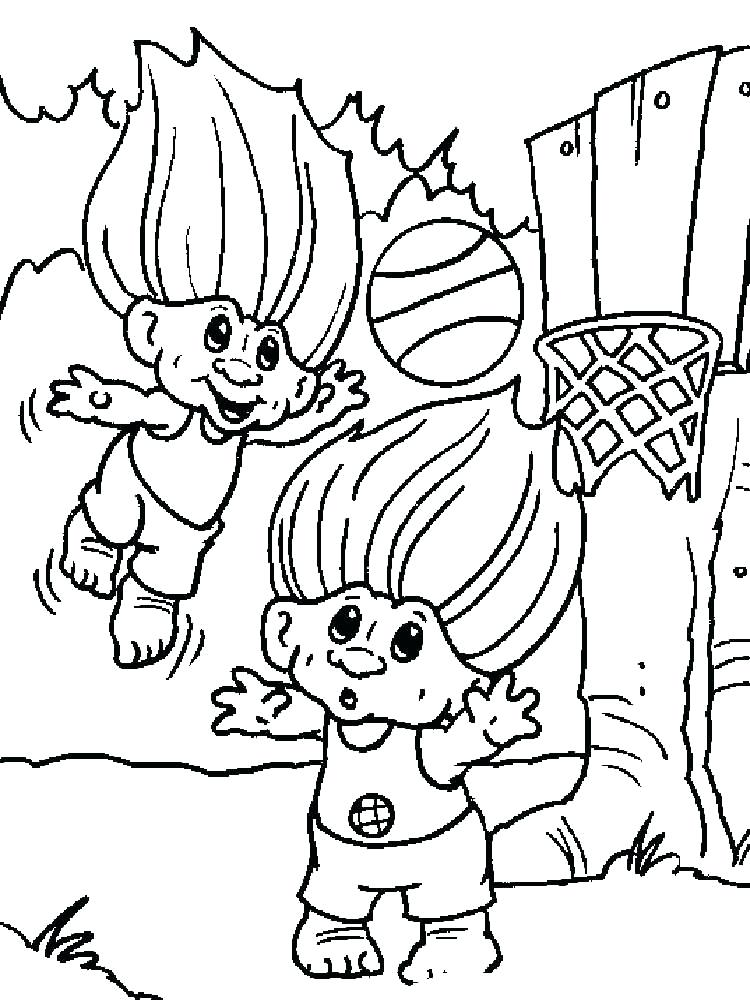 750x1000 Trolls Coloring Pages Download