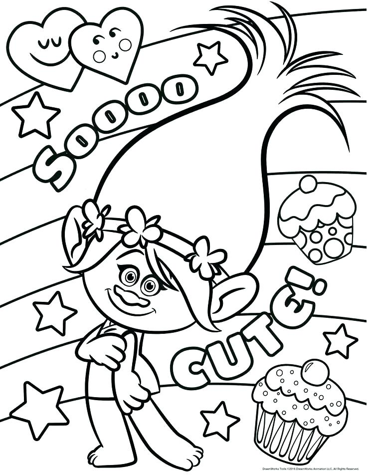 736x952 Trolls Coloring Pages Printable