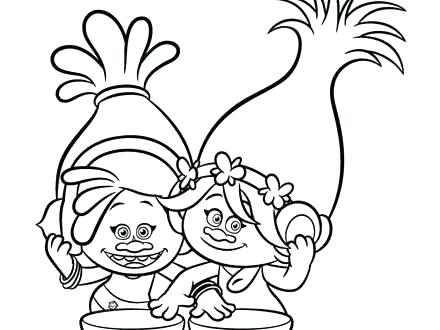 440x330 Poppy Coloring Pages Trolls Coloring Page Free As Well As Poppy