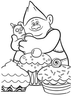 236x313 Trolls Coloring Pages