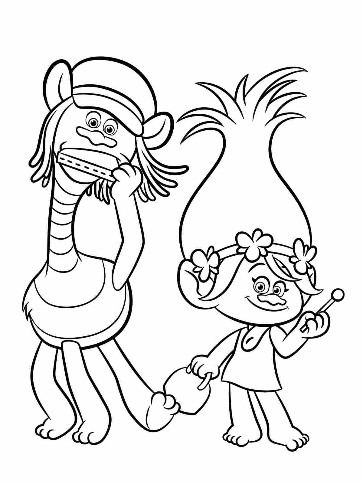 1200x1600 Dreamworks Trolls Free Coloring Pages Crayola Com Beauteous