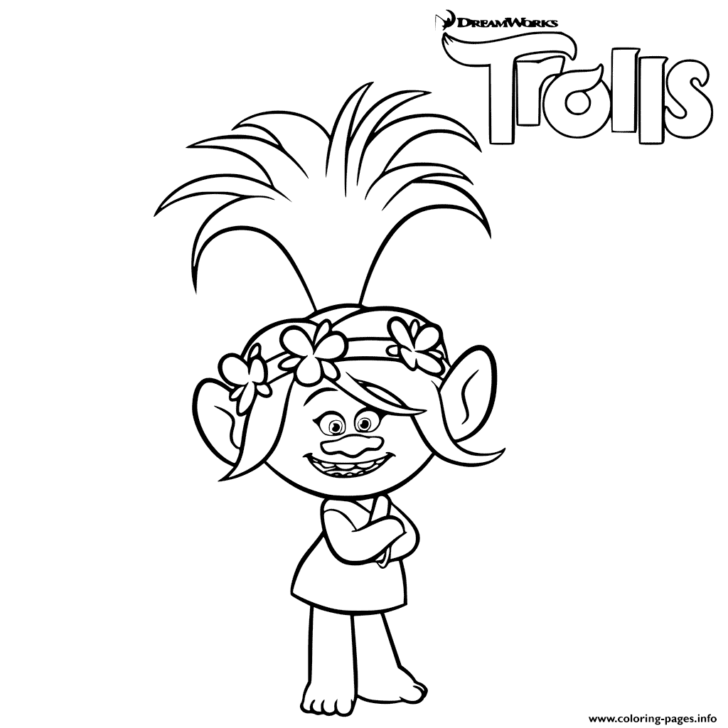 1024x1024 Trolls Coloring Pages Book Printable Free Movie Cartoons Color