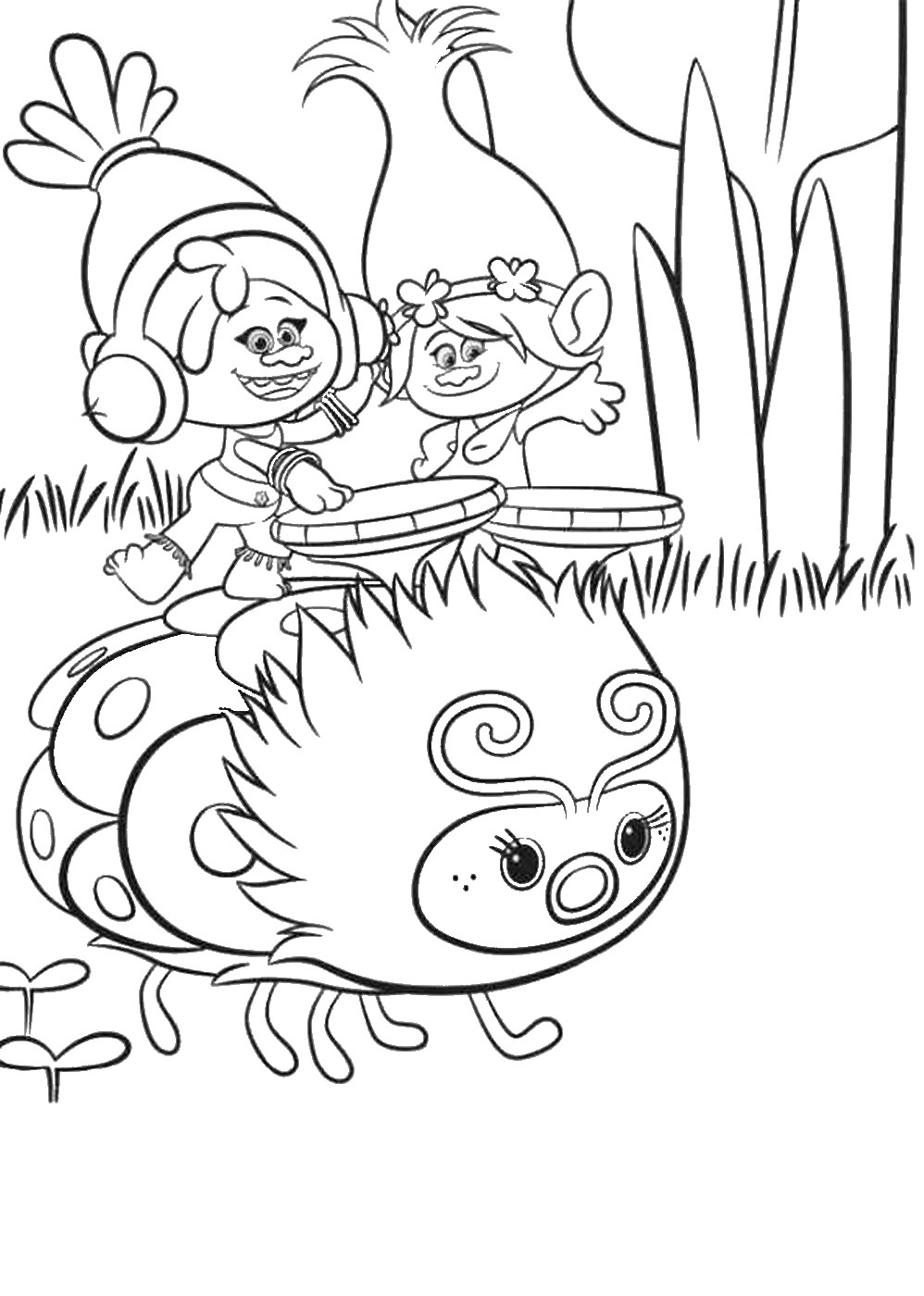 998x1400 Trolls Holiday Movie Coloring Pages