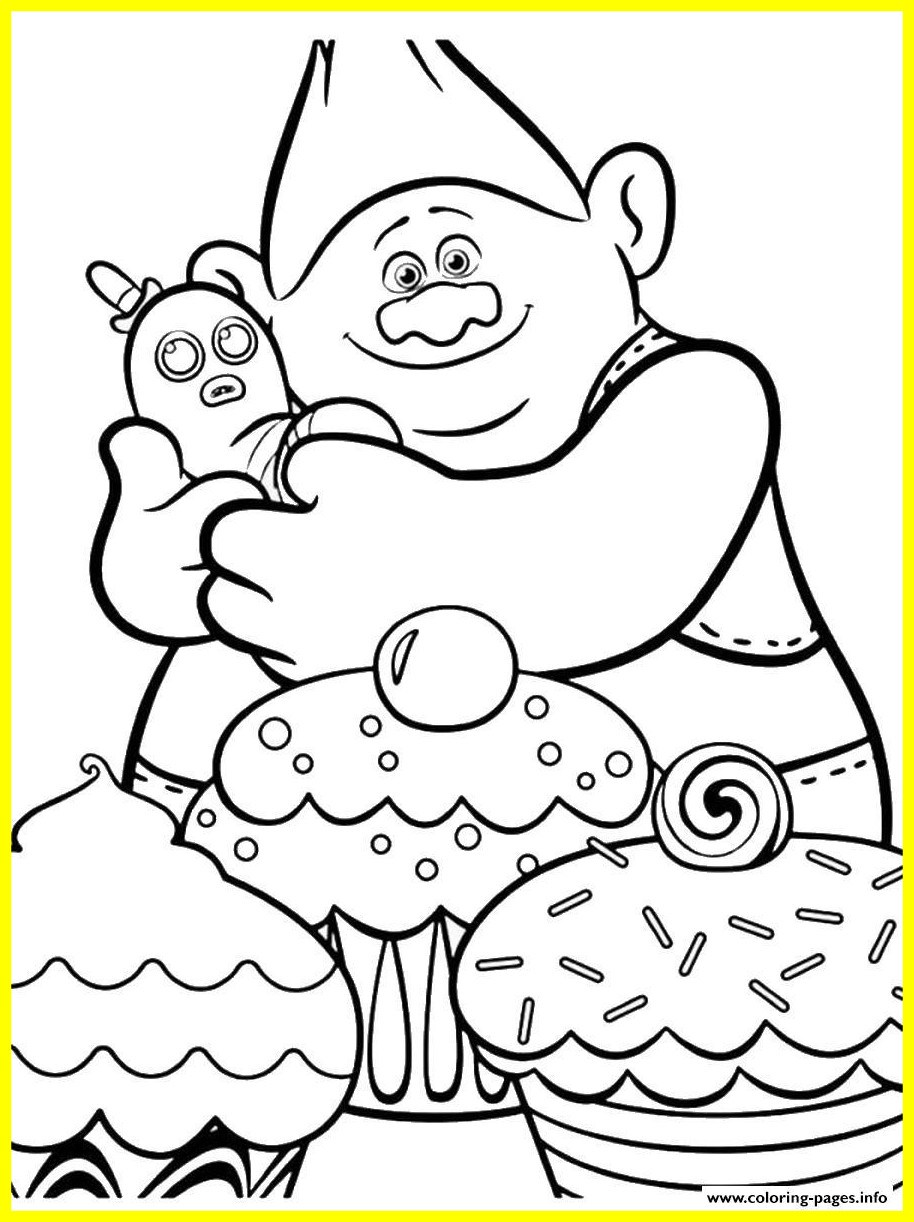 914x1222 Amazing Trolls Movie Coloring Printable Pict Of Cupcake Popular