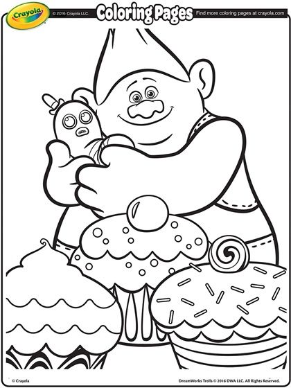 Trolls Movie Free Coloring Pages