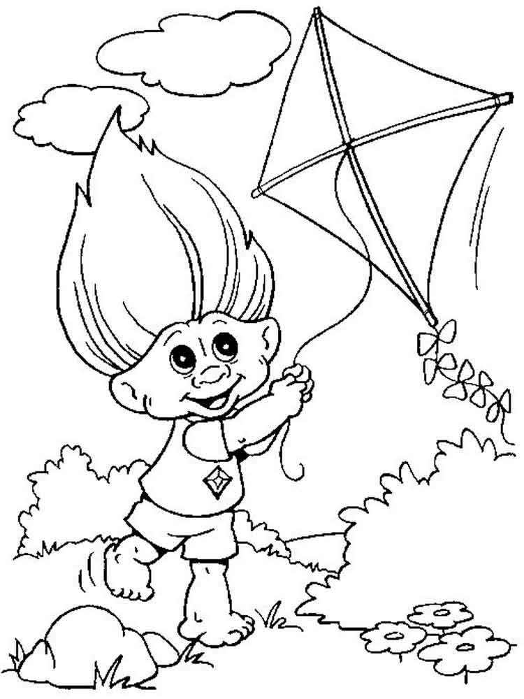 750x1000 Trolls Flies Free Coloring Page Kids, Trolls Coloring Pages