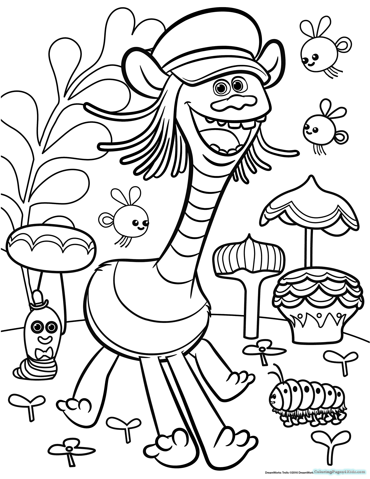 1500x1940 Dreamworks Trolls Printable Coloring Pages Coloring Pages For Kids