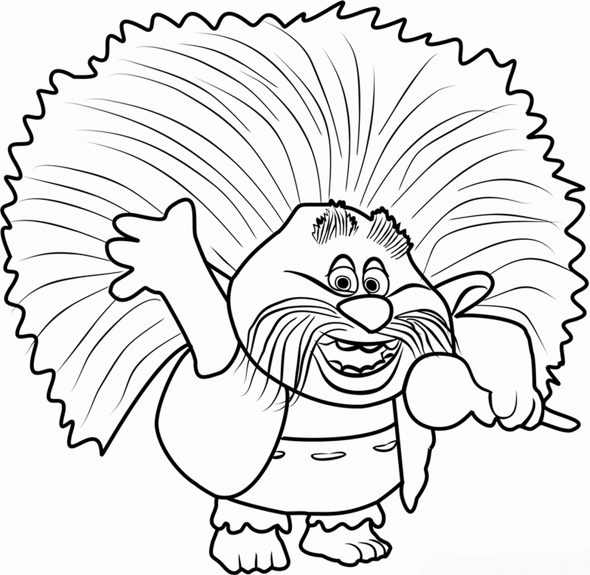 1200x1170 Trolls Holiday Movie Coloring Pages