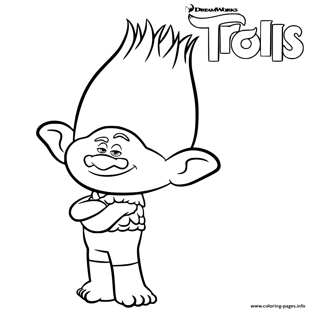 1024x1024 Coloring Branch Trolls Printable Coloring Pages Book