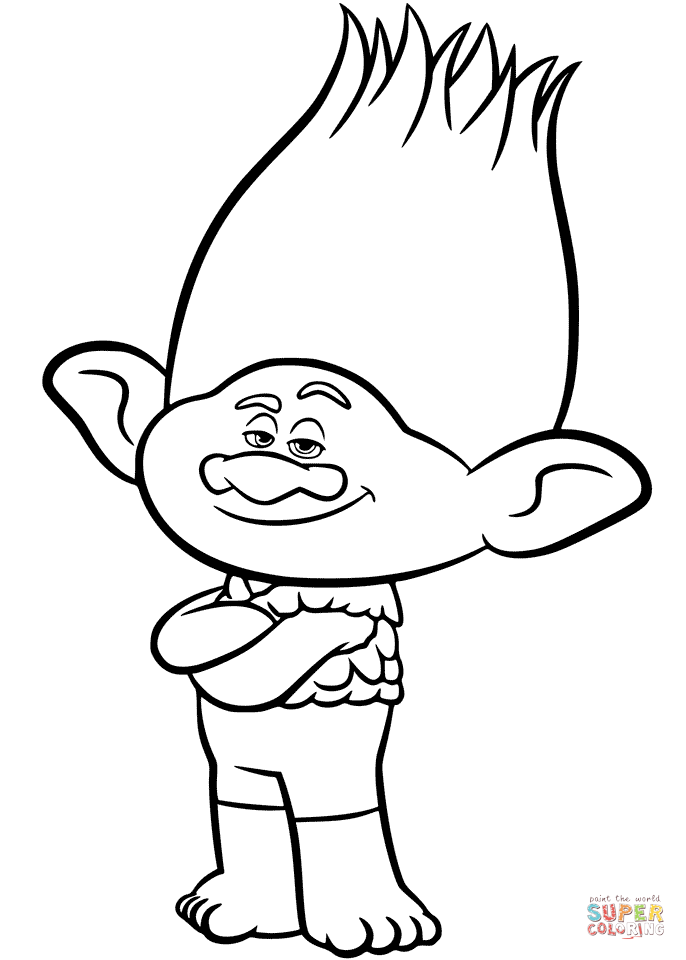 686x960 Branch From Trolls Coloring Page Free Printable Coloring Pages