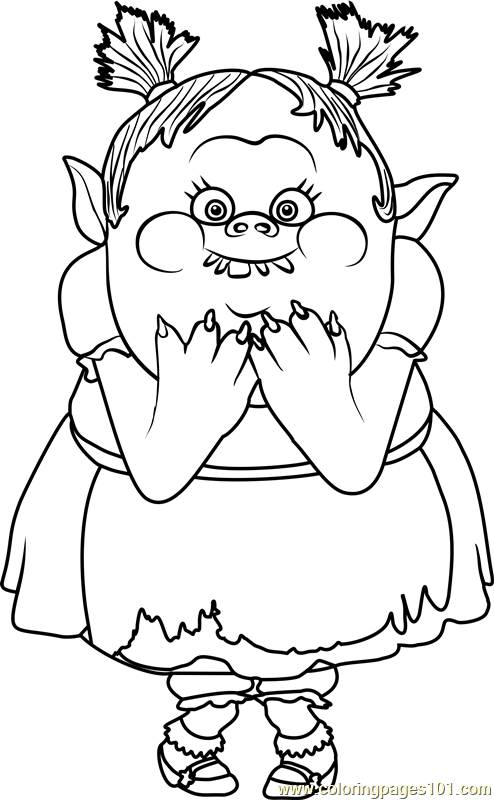 494x800 Bridget From Trolls Coloring Page