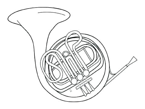 480x360 Iphone Coloring Page Trombone Together With Musical Instruments