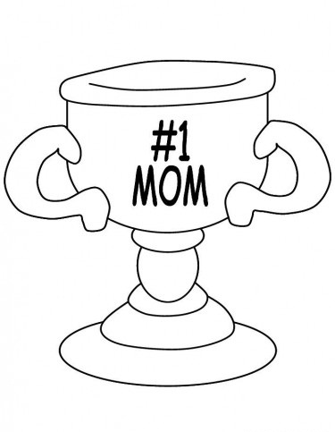 375x483 Number Mom Trophy Coloring Pages Free Coloring Pages