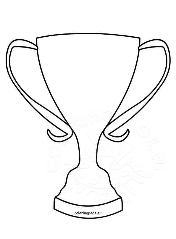 595x808 Trophy Coloring Page Winner Cup Shape Coloring Page
